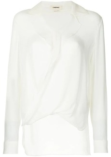 L'Agence frilled blouse