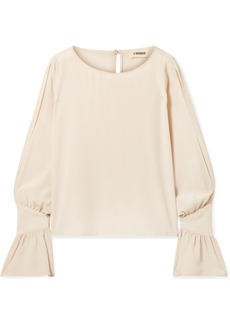 L'Agence Gianne Ruffled Silk-crepe Blouse