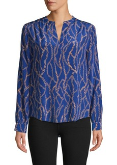 L'Agence High-Low Silk Blouse