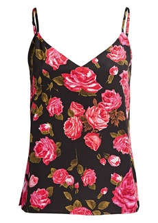 L'Agence Jane Silk Floral Camisole