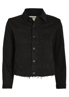 L'Agence Janelle Chain Fringe Denim Jacket