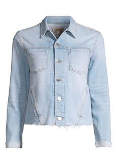 L'Agence Janelle Distressed Denim Jacket