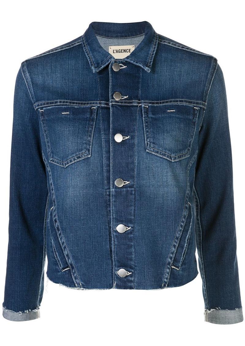 L'Agence Janelle distressed hem jacket