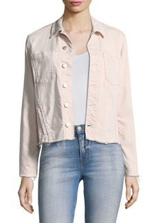 Janle Slim Raw Hem Japanese Denim Jacket