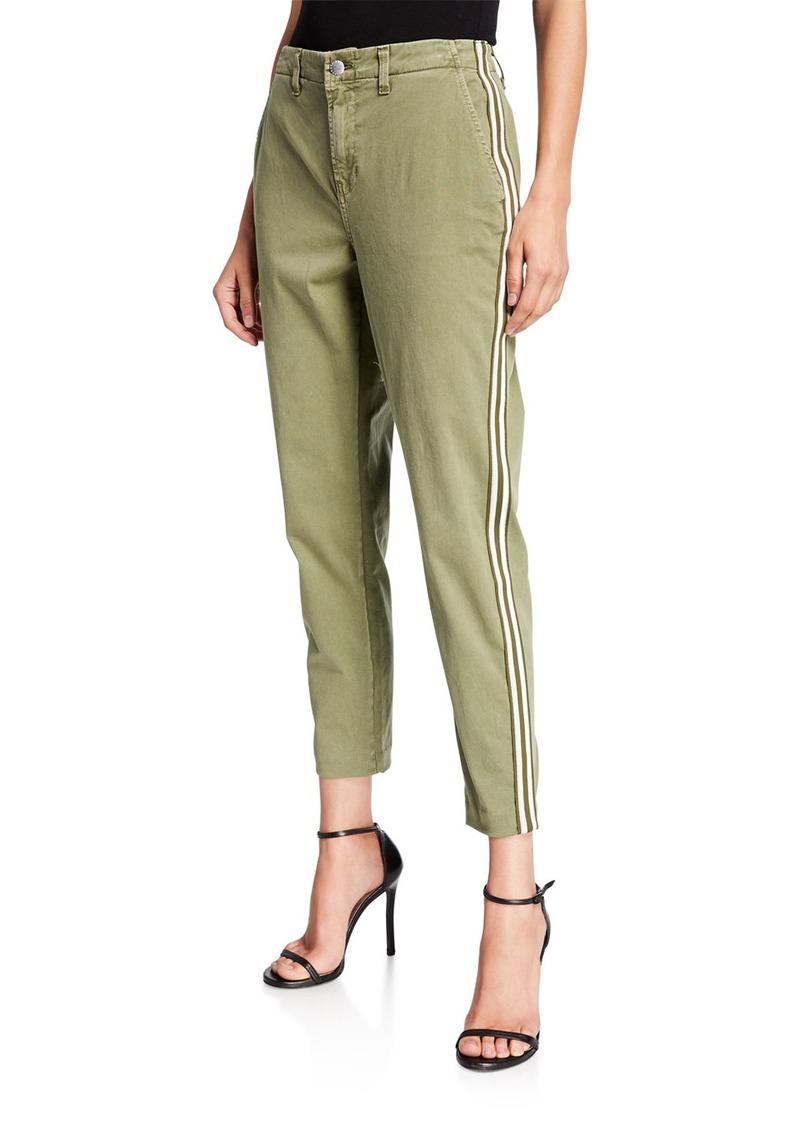 L'Agence Jem High-Rise Trousers w/ Side Stripes