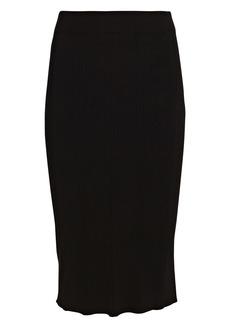 L'Agence Jessica Rib Knit Pencil Skirt