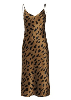L'Agence Jodie Leopard Silk Slip Dress