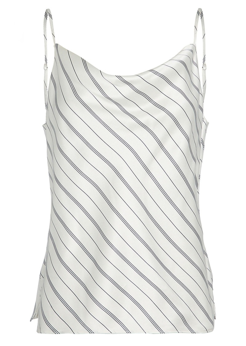 L'Agence Kay Striped Silk Camisole