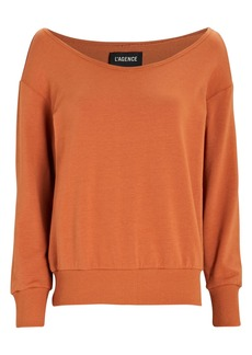 L'Agence Kimora Boat Neck Sweatshirt