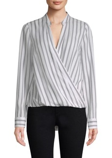 L'Agence Kyla Striped Wrap Top