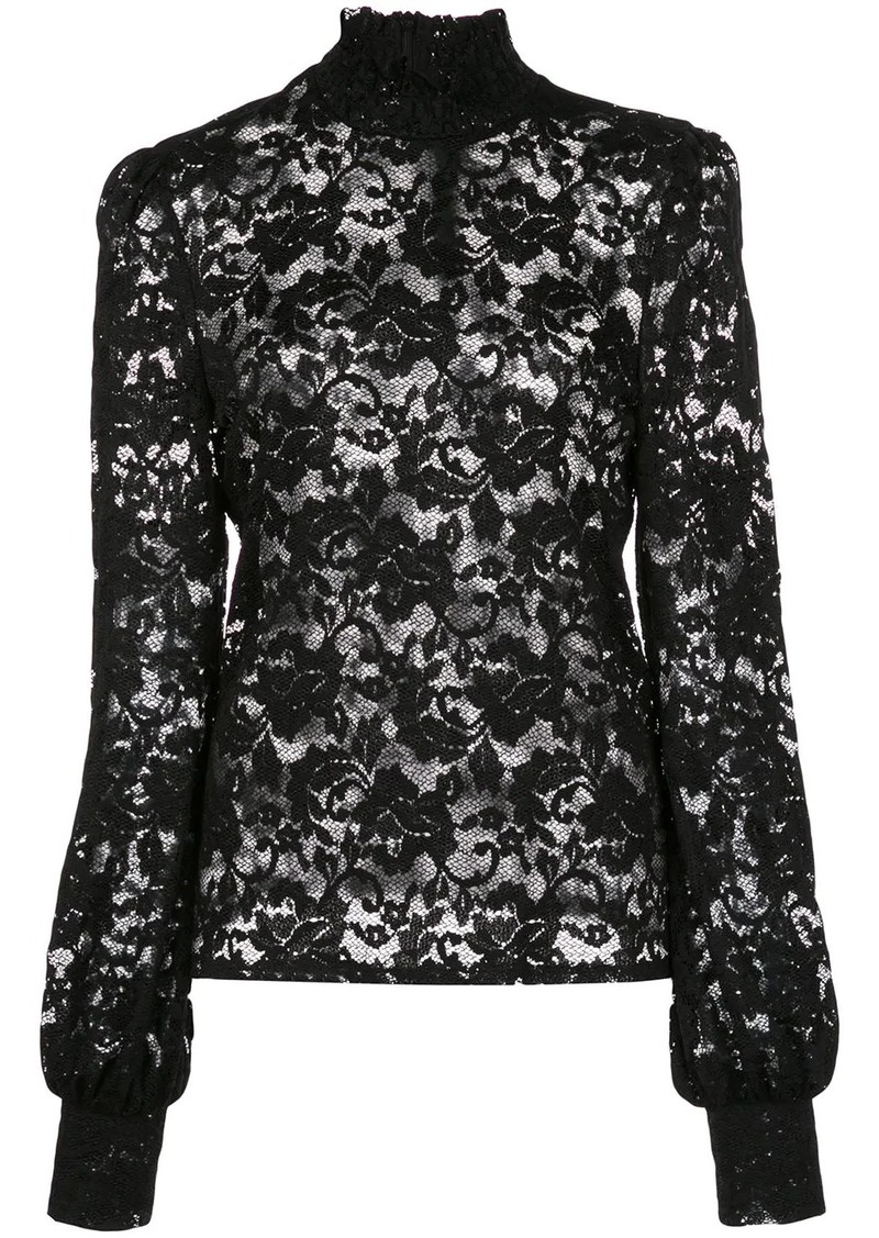 L'Agence lace constructed blouse