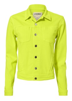 L'Agence Celine Yellow Denim Jacket