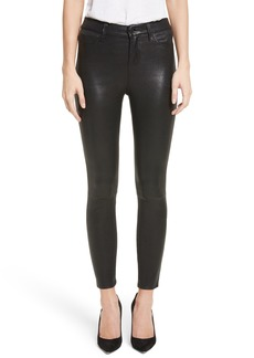 L'AGENCE Adelaide High Waist Crop Leather Jeans