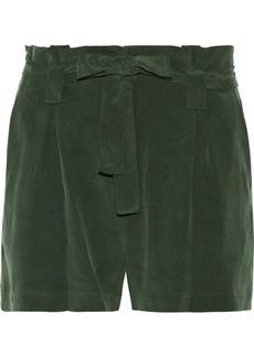 L'Agence Alex washed silk-crepe shorts