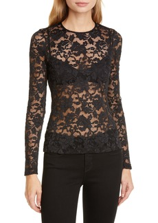 L'AGENCE Annika Floral Lace Top