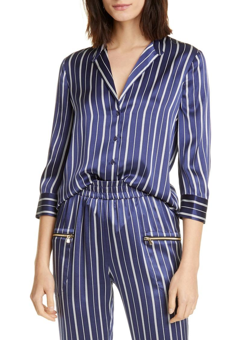 L'AGENCE Aoki Stripe Silk Shirt