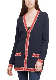 L'AGENCE Ariel Stripe Wool & Cashmere Cardigan