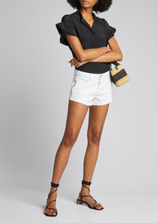 L'Agence Audrey High-Rise Zip Shorts