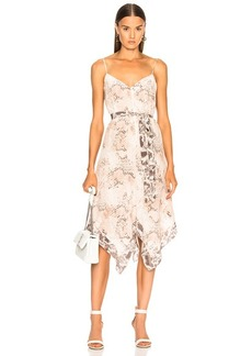 L'AGENCE Azalea Slip Scarf Dress