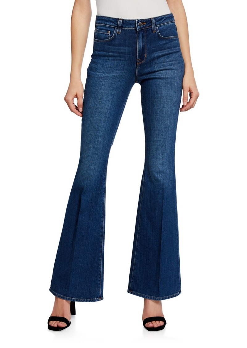 L'Agence Bell High-Rise Flare Jeans