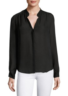 L'Agence Bianca Buttoned Silk Blouse