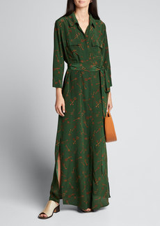 L'Agence Cameron Printed Long Shirt Dress