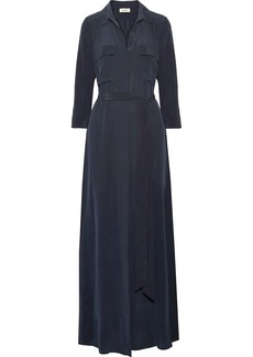 L'Agence Cameron Washed-silk Maxi Dress