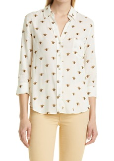 L'AGENCE Camille Bee Print Blouse