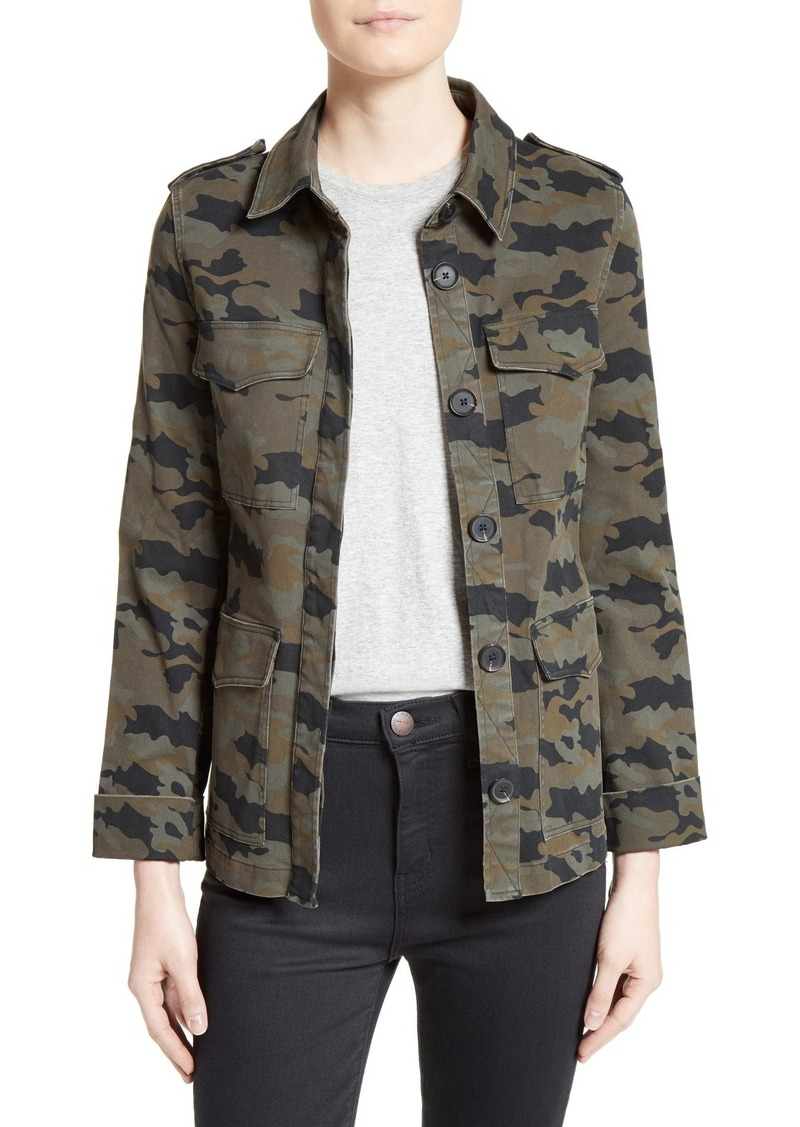 L'AGENCE Camo Print Military Jacket