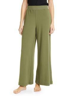 L'AGENCE Campbell High Waist Wide Leg Cotton Blend Pants