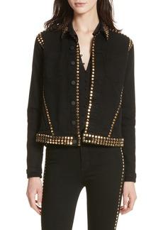 L'AGENCE Celine Studded Denim Jacket