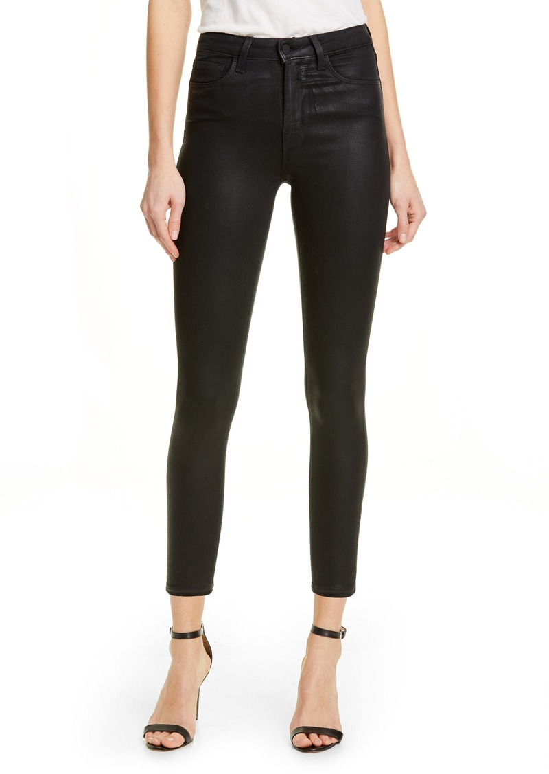 L'AGENCE Coated High Waist Skinny Jeans