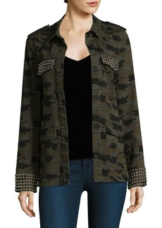 Cromwell Studded Camo Military Jacket