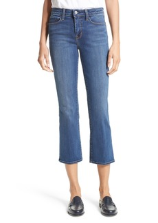 L'AGENCE Crop Baby Flare Jeans (Azul)