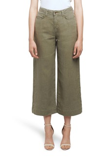 L'AGENCE Danica High Waist Wide Leg Crop Linen Pants