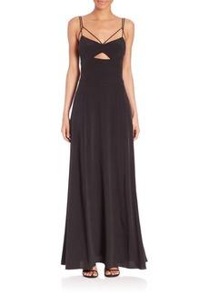 L'Agence Elsa Strappy Cutout Dress