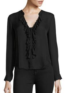 L'Agence Guilietta Ruffle Silk Blouse