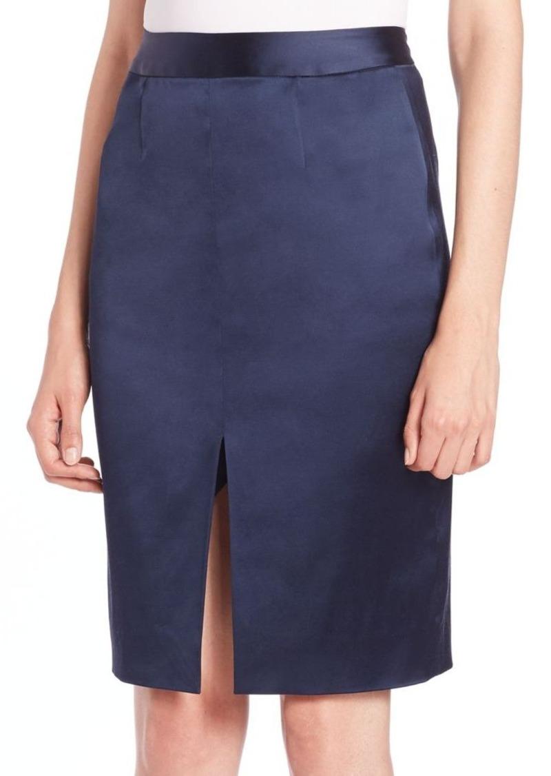 L'AGENCE Hanna Slit-Detail Satin Skirt