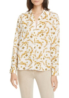 L'AGENCE Holly Filigree Print Blouse