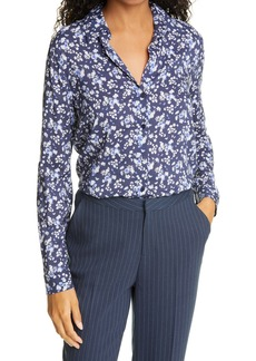 L'AGENCE Holly Floral Button-Up Blouse