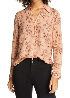 L'AGENCE Holly Floral Print Blouse