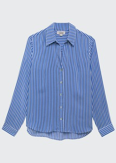 L'Agence Holly Striped Long-Sleeve Blouse