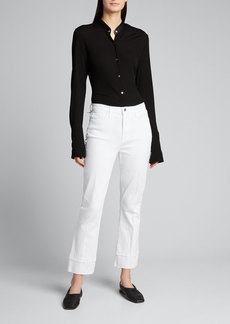 L'Agence Jada High-Rise Crop Baby Boot-Cut Jeans