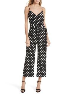L'AGENCE Jaelyn Polka Dot Silk Jumpsuit