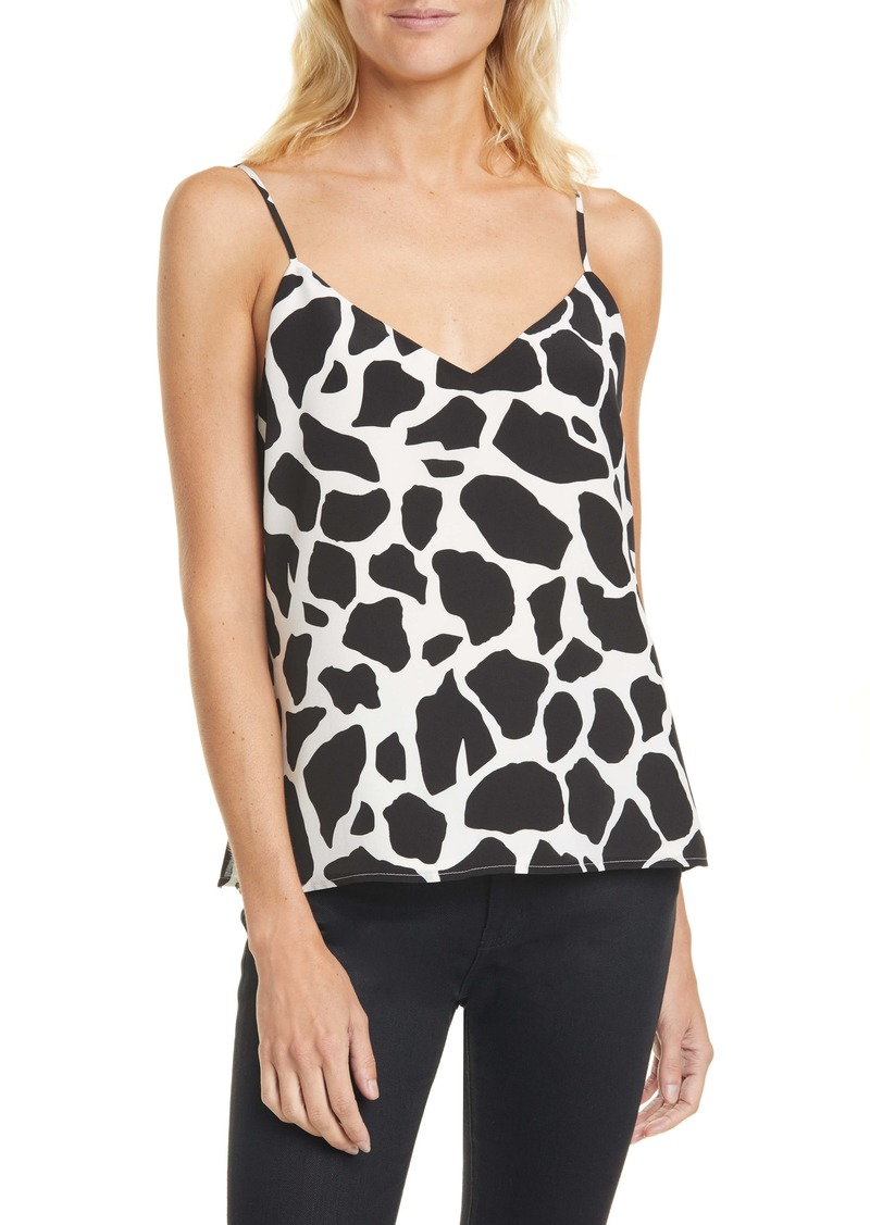 L'AGENCE Jane Animal Print Silk Camisole