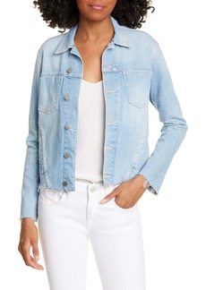 L'AGENCE Janelle Raw Cut Slim Denim Jacket