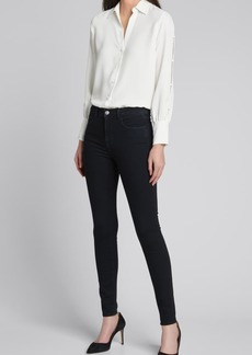 L'Agence Jordy Blouse with Button Sleeves
