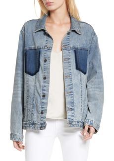 L'AGENCE Karina Shadow Pocket Denim Jacket