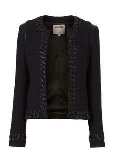 L'Agence Lace-Up Bouclé Jacket