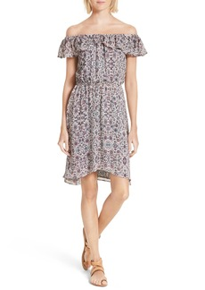 L'AGENCE Leonie Print Off the Shoulder Dress